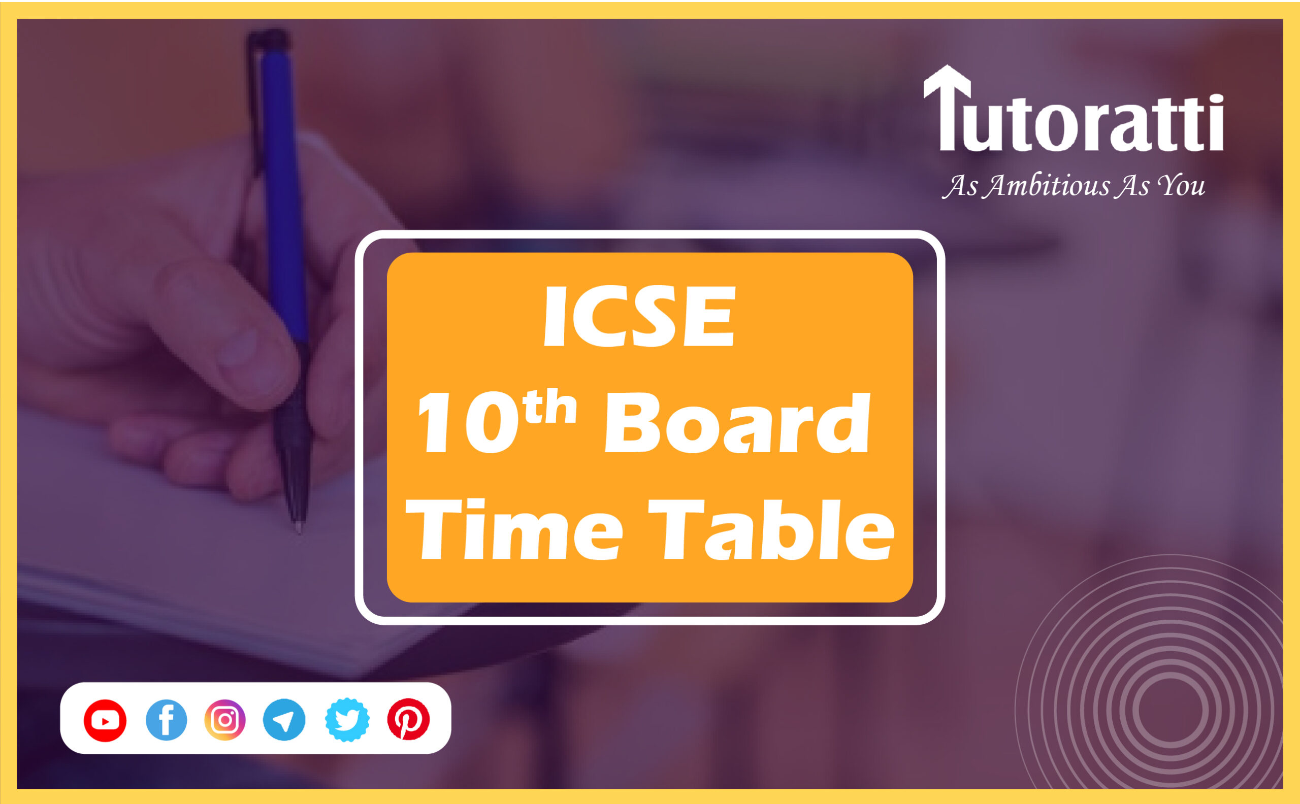 ICSE 10th Board Time Table