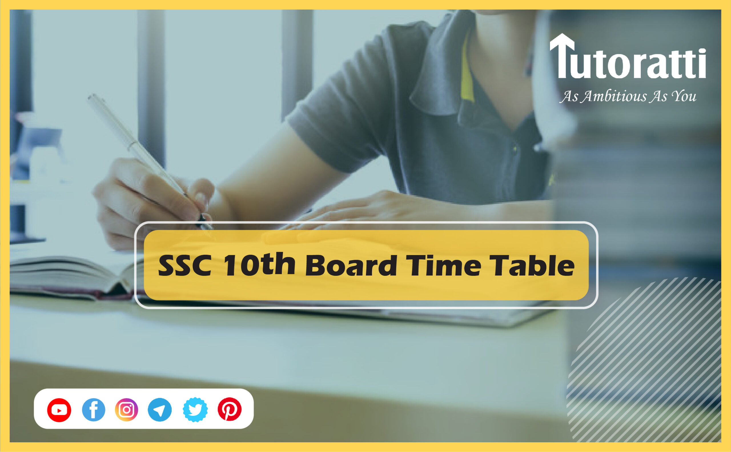 SSC 10th Board Time Table