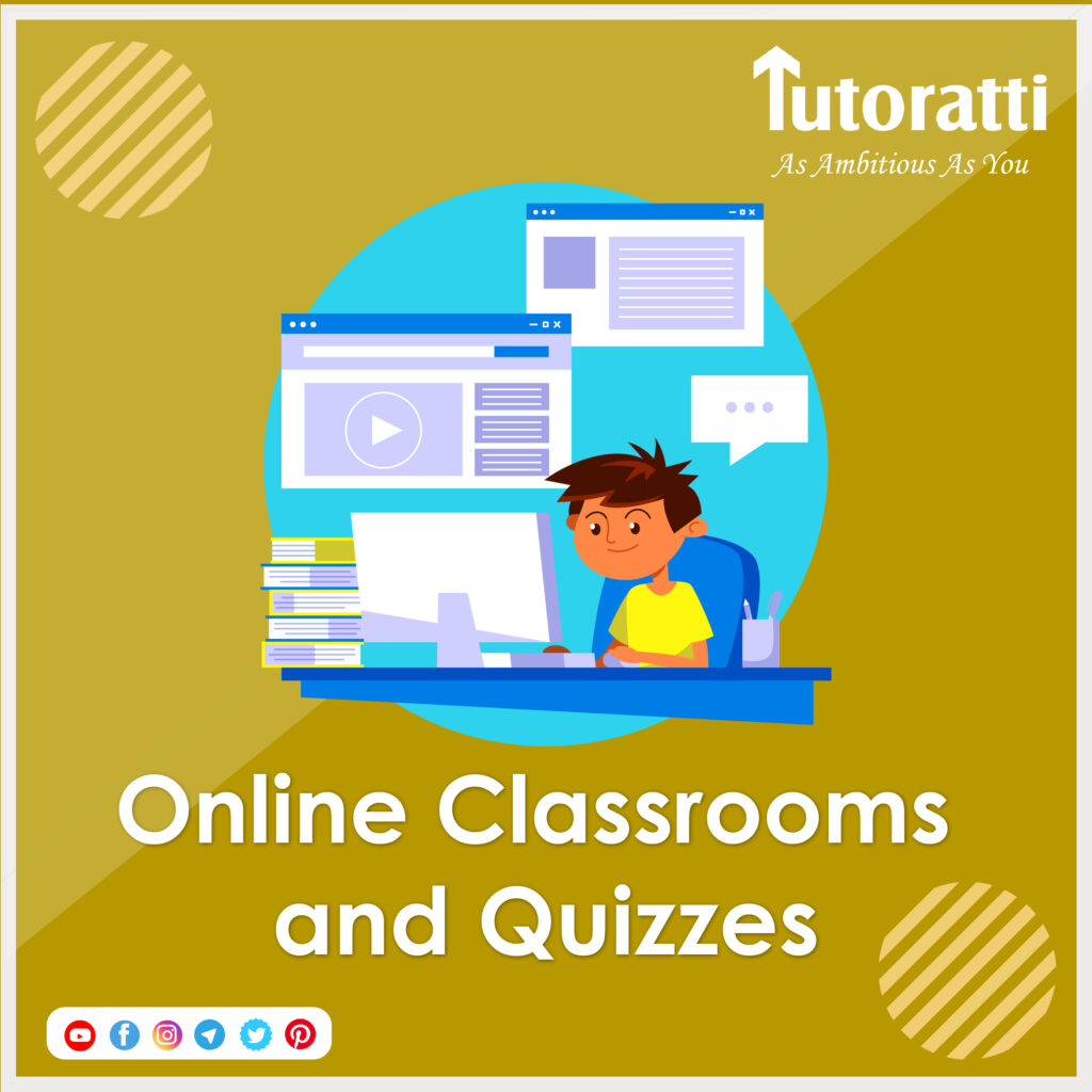 online classroom and quizzes