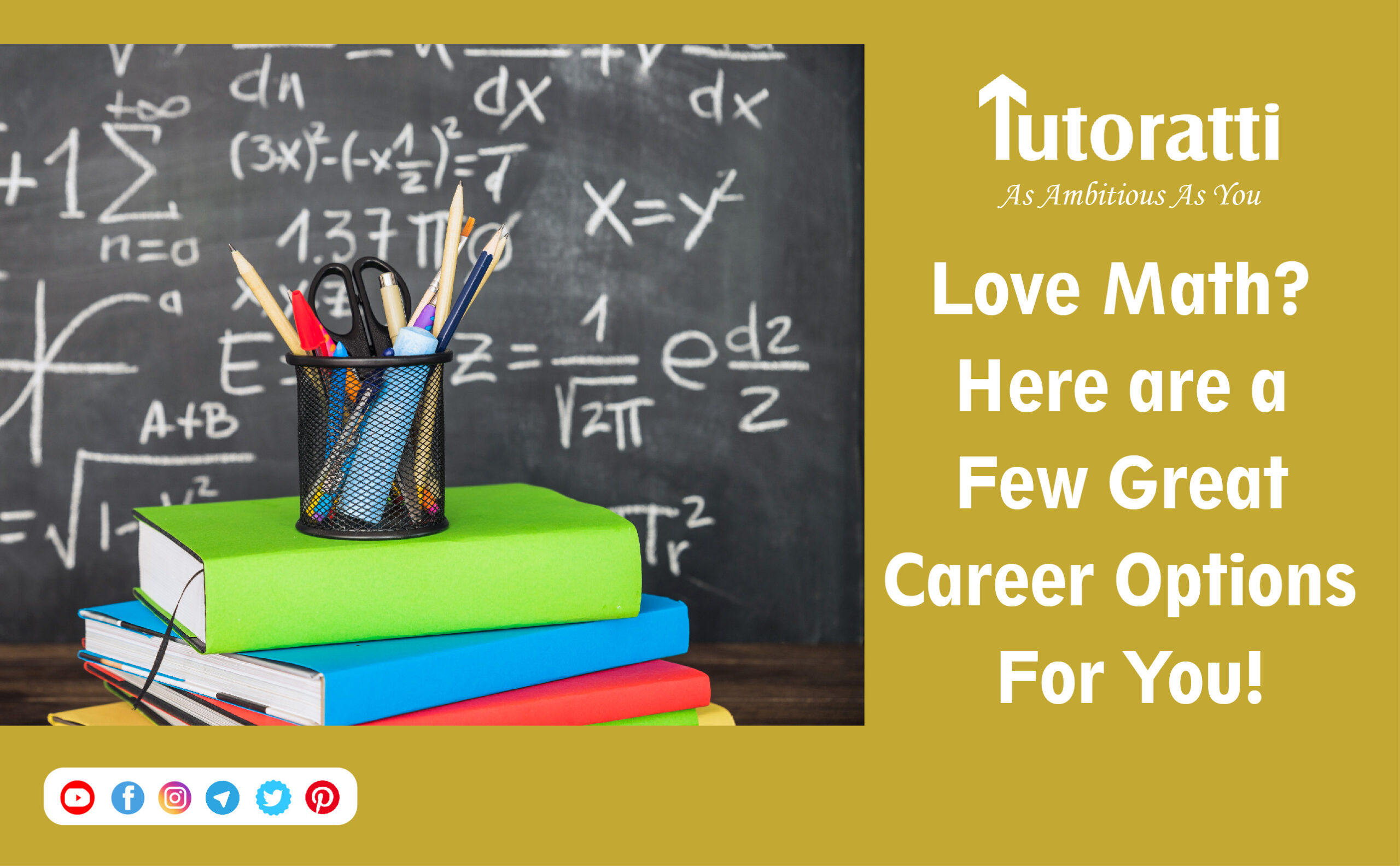 Love Math? Here are a few great career options for you!